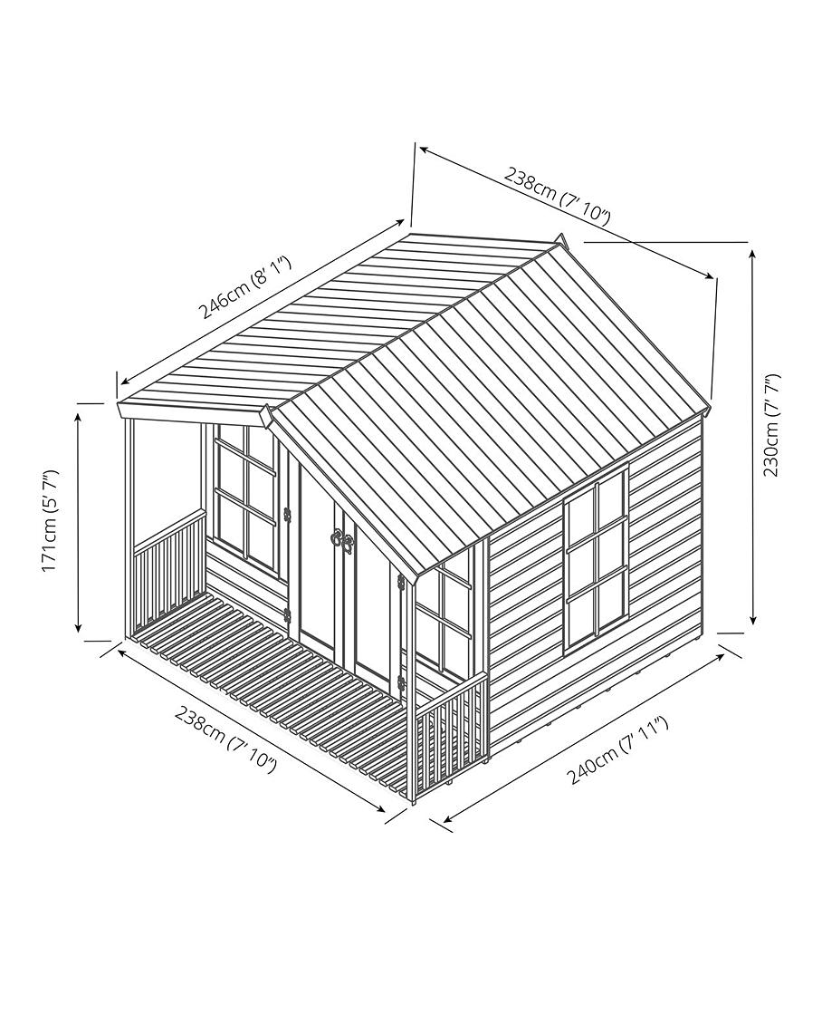 Black and White Fully Assembled House